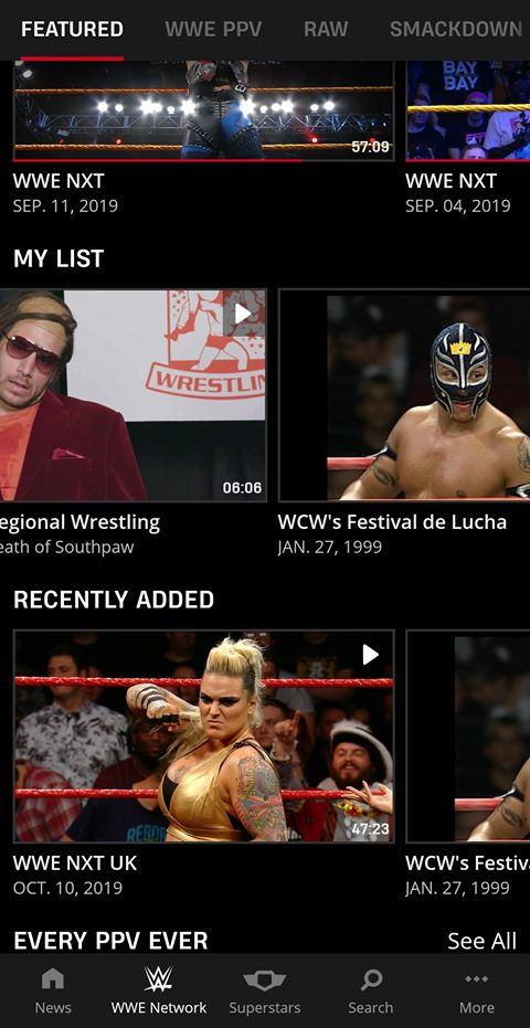 My List (Formerly Known As Watchlist) For WWE Network Now
